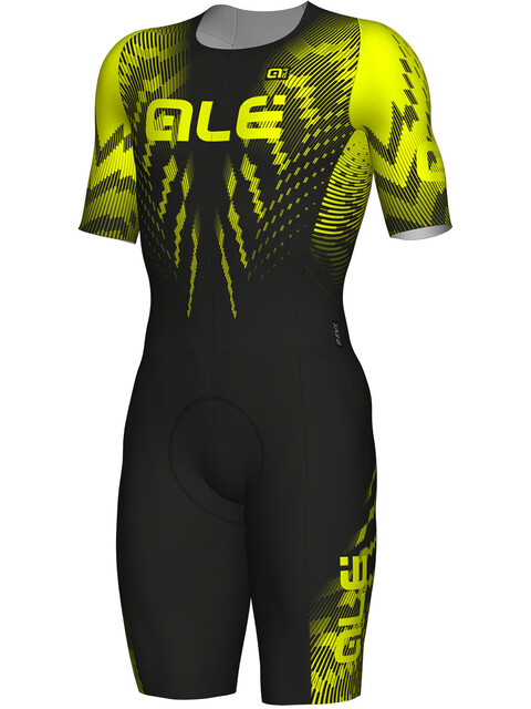 Alé Cycling R-EV1 Pro Race SS Skinsuit Men black-fluo yellow